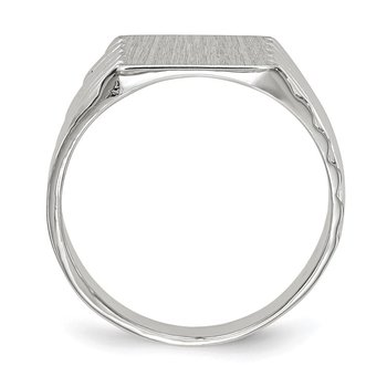 14k White Gold 9.0x10.0mm Closed Back Signet Ring