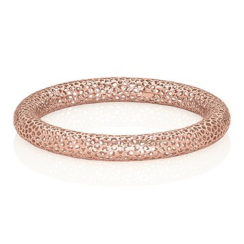 Small Metal Lace Bangle 18k Gold