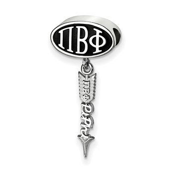 Sterling Silver Pi Beta Phi Greek Life Bead