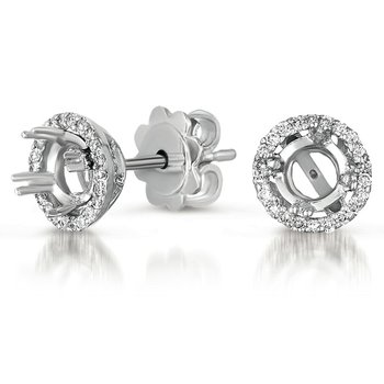Four Prong Earring Setting for 50pt TW