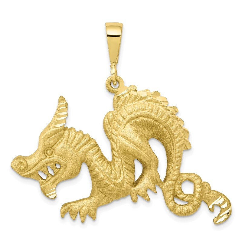 Quality Gold 10k Dragon Pendant