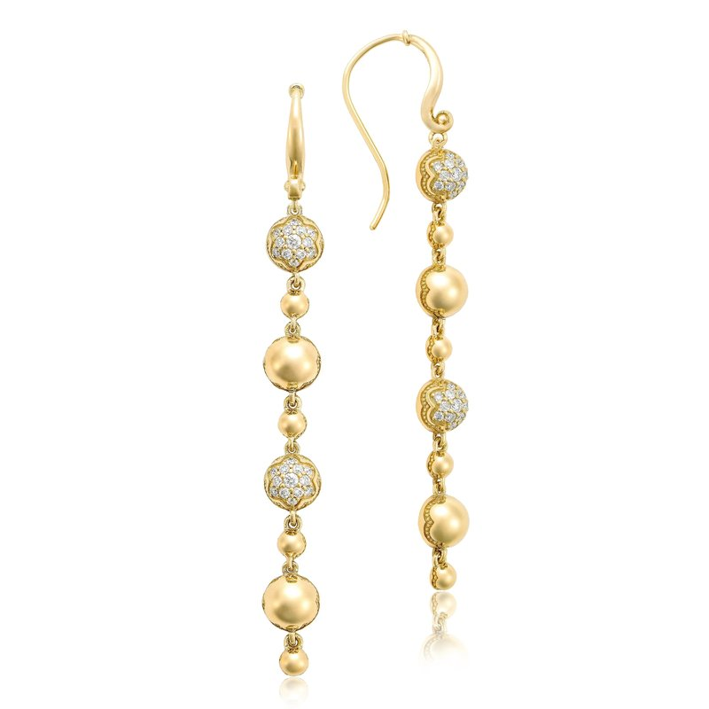 Tacori Fashion Pavé Dew Drop Line Earrings