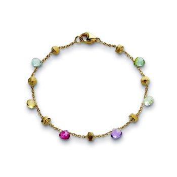 Paradise Mixed Stone Single Strand Bracelet