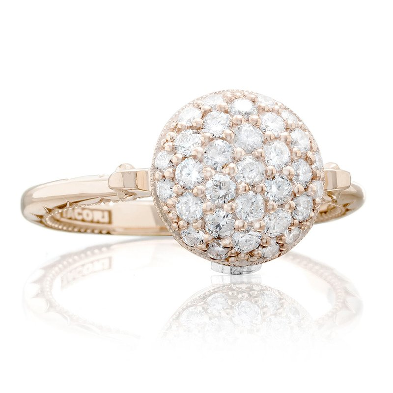 Tacori Fashion Pavé Dew Drop Ring in Rose Gold with Diamonds