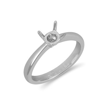 18K WG Engagement Ring for Mounting 6MM Round