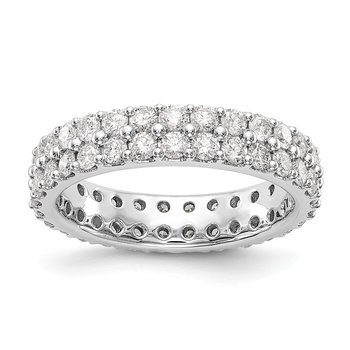 14kw True Origin Lab Grown Dia VS/SI D,E,F 2ct. Dbl Row Eternity Band