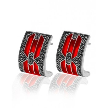 Modern Royal Earrings Red
