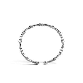 Bamboo 4MM Flex Cuff in Silver