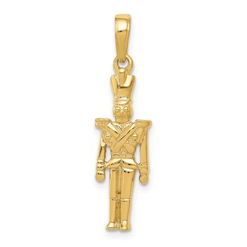 14k Polished 3-D Toy Soldier Pendant