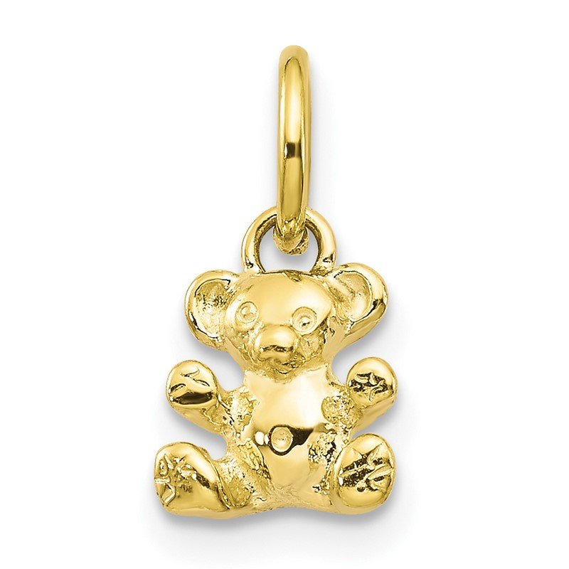 Quality Gold 10k 3D Teddy Bear Charm
