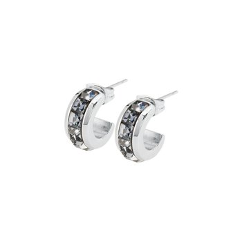 316L stainless steel and silver night Swarovski® Elements crystals.