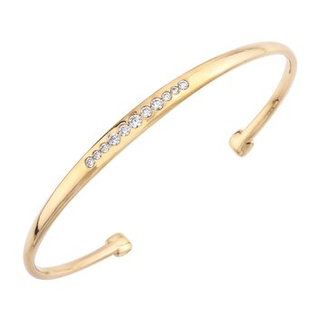 Mark Patterson Yellow Gold Tango Bangle Bracelet