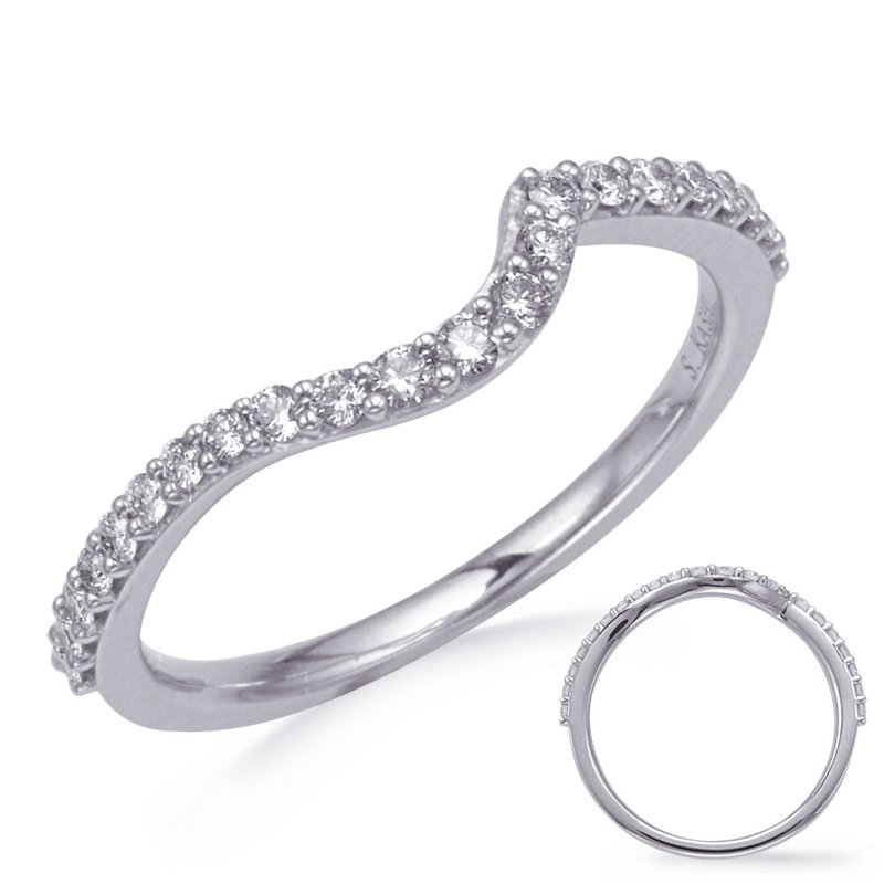 S. Kashi & Sons Bridal White Gold Diamond Weddding Band