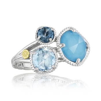 Budding Brilliance Ring featuring Assorted Gemstones