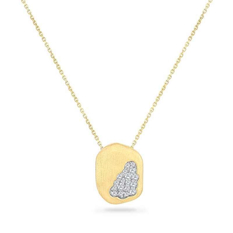 Shula NY 14K FREE FORM NECKLACE WITH 11 DIAMONDS 0.12CT 18 INCHES