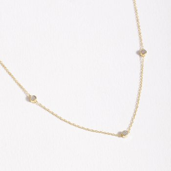 Dot To Dot Gold Necklace