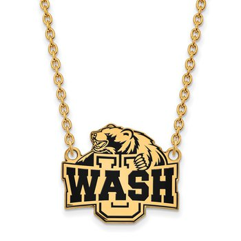 Gold-Plated Sterling Silver Washington University in St. Louis NCAA Necklace