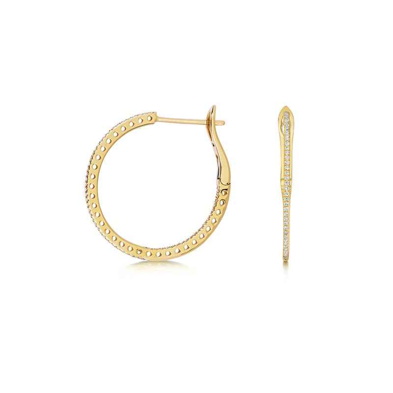 Treasure Diamond Hoops 24mm