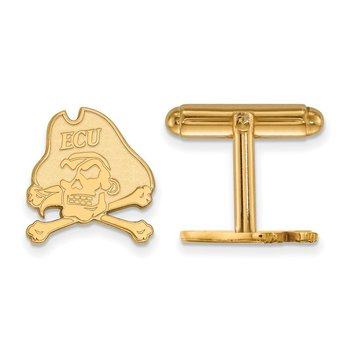 Gold East Carolina University NCAA Cuff Links
