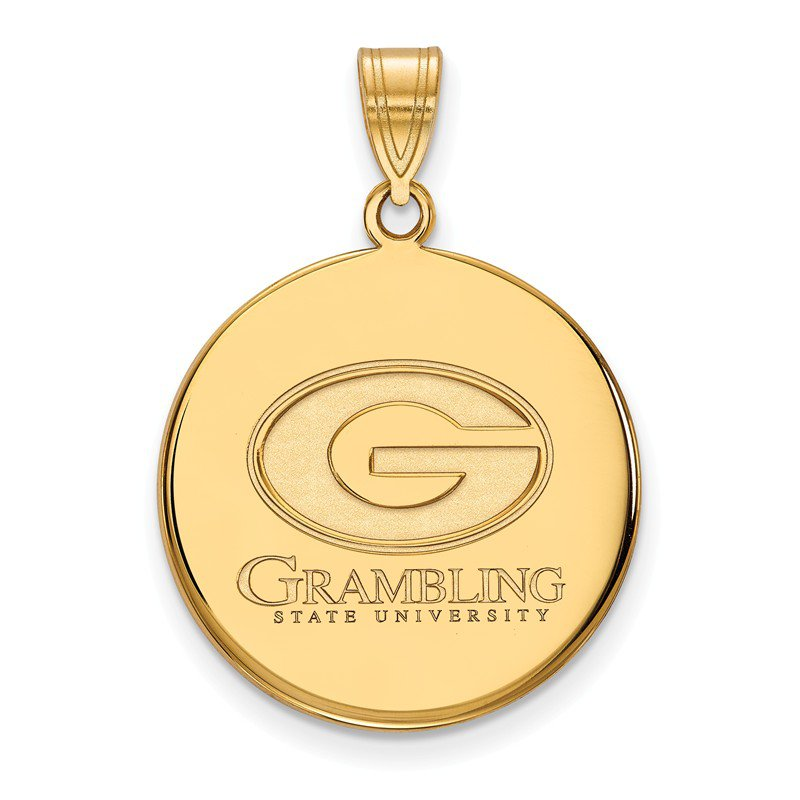 NCAA Gold-Plated Sterling Silver Grambling State University NCAA Pendant