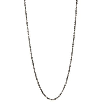 Silver Plain Chain Necklace