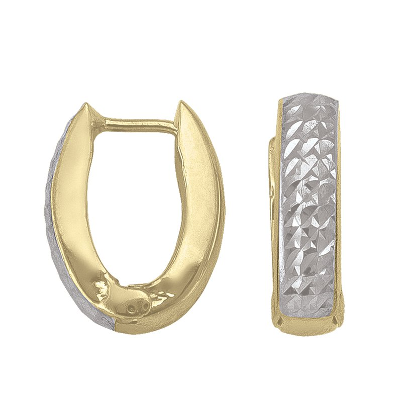 Tecimer Gold Jewellery Gold Huggie Earrings