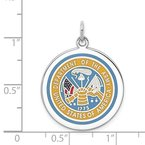 Lester Martin Online Collection Sterling Silver Rhodium-plated US Army Logo Disc