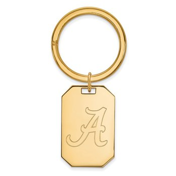 Gold-Plated Sterling Silver University of Alabama NCAA Key Chain