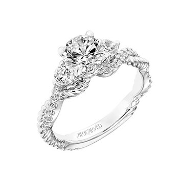 Three Stone Diamond Engagement Semi