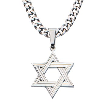 Stainless Steel Star Of David Pendant