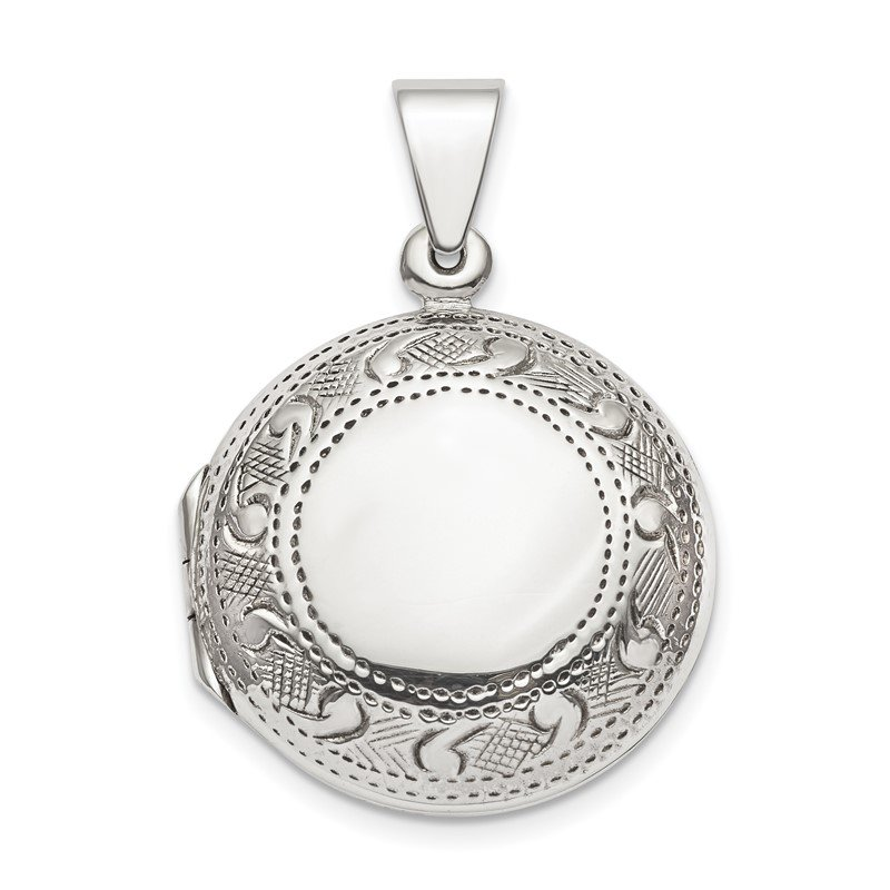 Quality Gold Sterling Silver Circle Locket