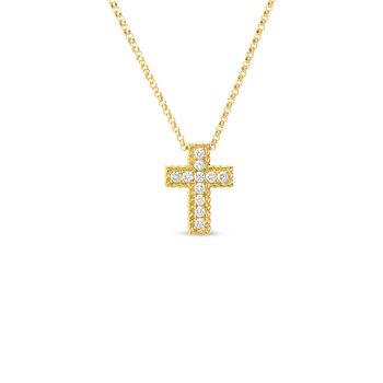 18KT GOLD DIAMOND CROSS PENDANT