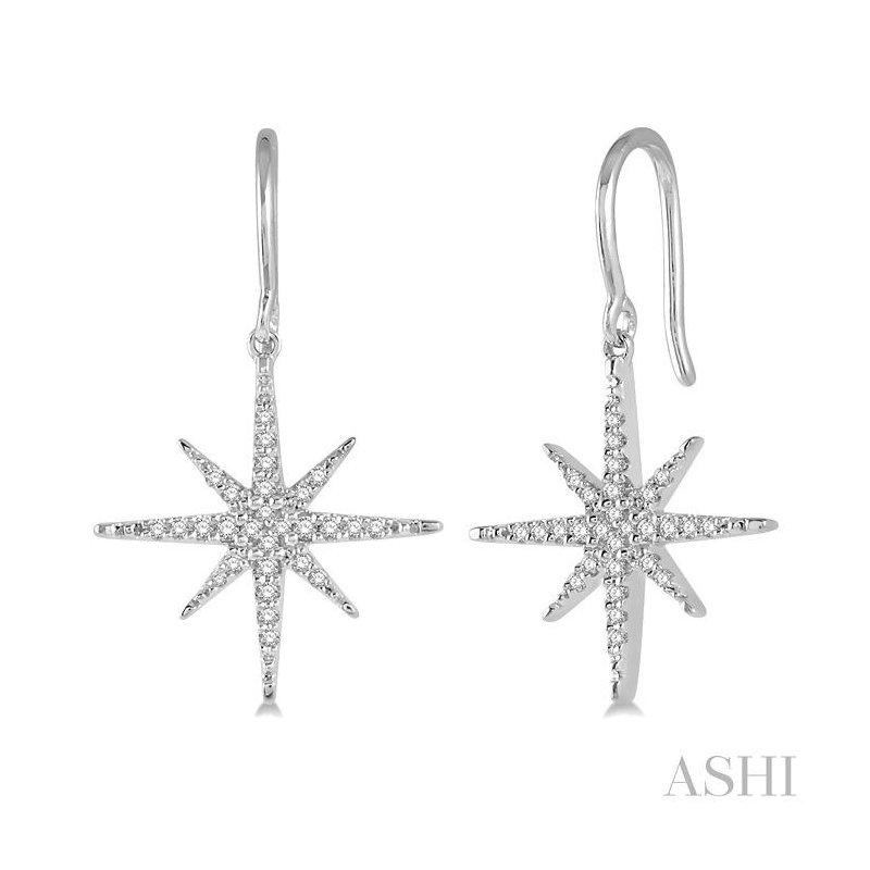 Gemstone Collection diamond star earrings