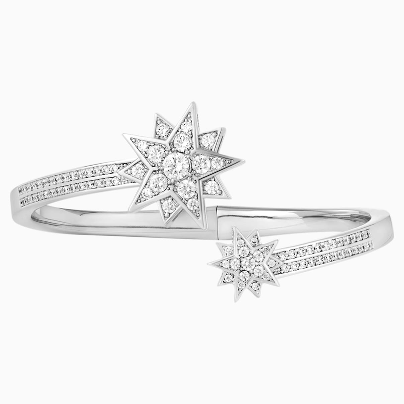 Swarovski Penélope Cruz Moonsun Cuff, Limited Edition, White, Rhodium plated