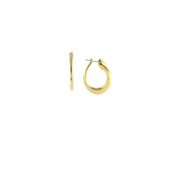 18Kt Contoured Oro Classic Hoop Earring
