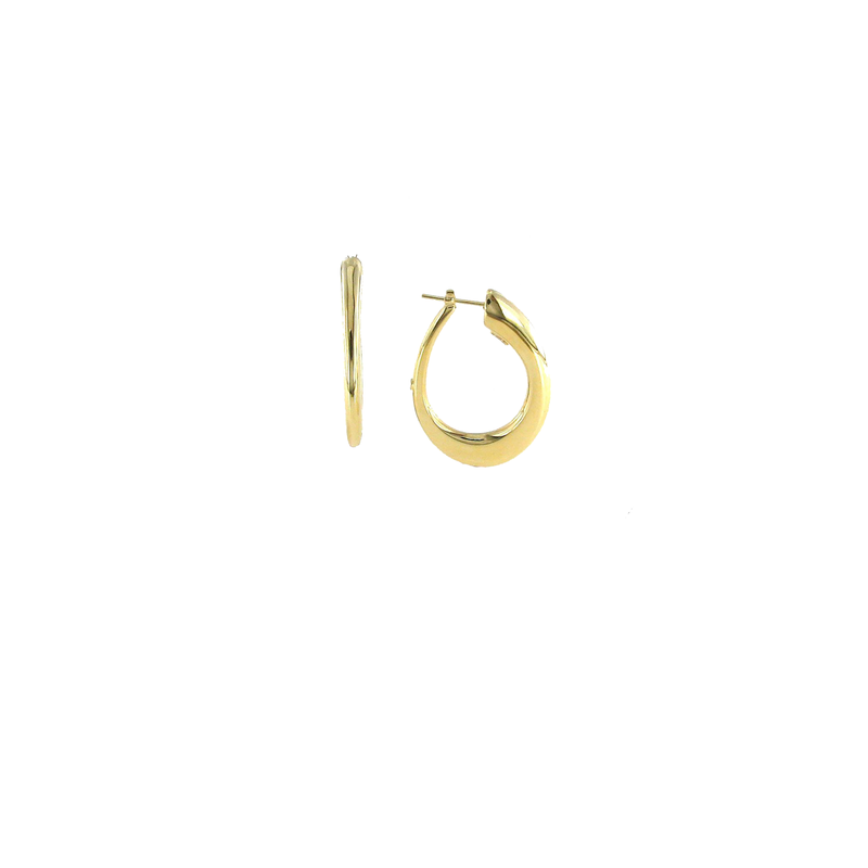 Roberto Coin 18Kt Contoured Oro Classic Hoop Earring