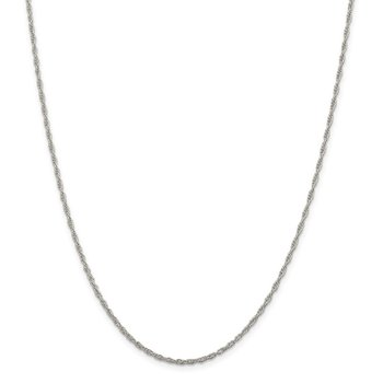 Sterling Silver 1.95mm Loose Rope Chain