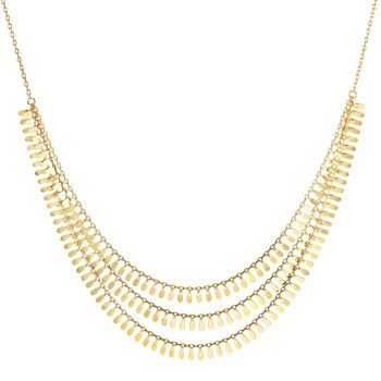 14K Gold Flora Multi-Strand Necklace