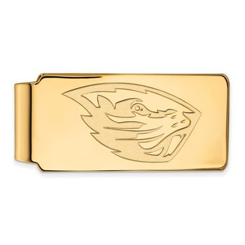 Gold Oregon State University NCAA Money Clip