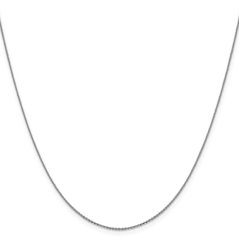 Leslie's Leslie's 14K White Gold 1.0 mm D/C Cable Chain