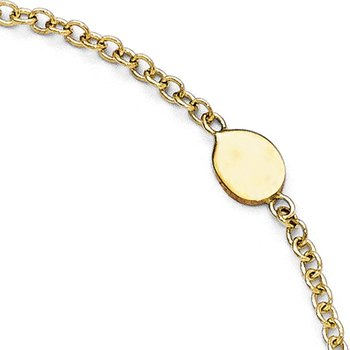 Leslie's 14K Polished Anklet w/1in ext.