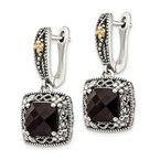 Shey Couture Sterling Silver w/ 14k Polished Onyx Earrings