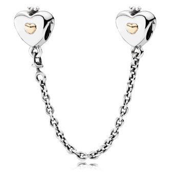 Heart & Crown Safety Chain