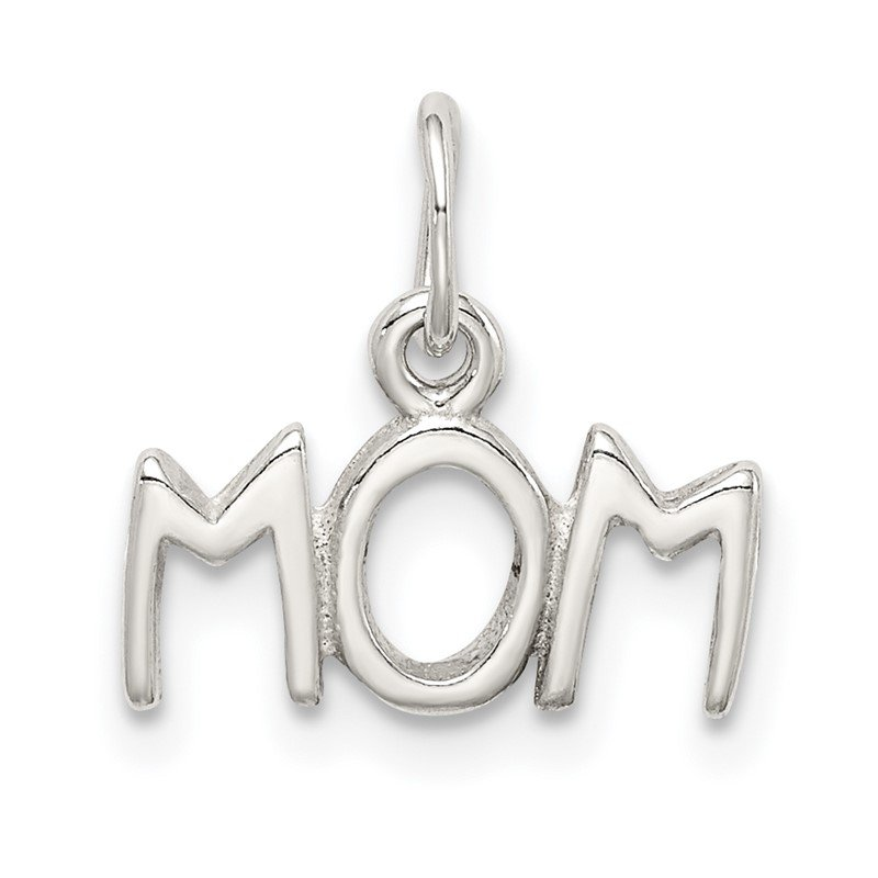 Arizona Diamond Center Collection Sterling Silver Polished MOM Charm