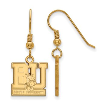Gold-Plated Sterling Silver Boston University NCAA Earrings