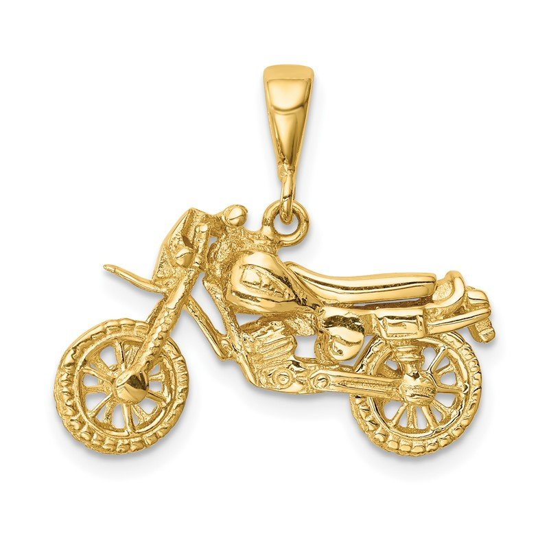 Quality Gold 14K Motorcycle Pendant