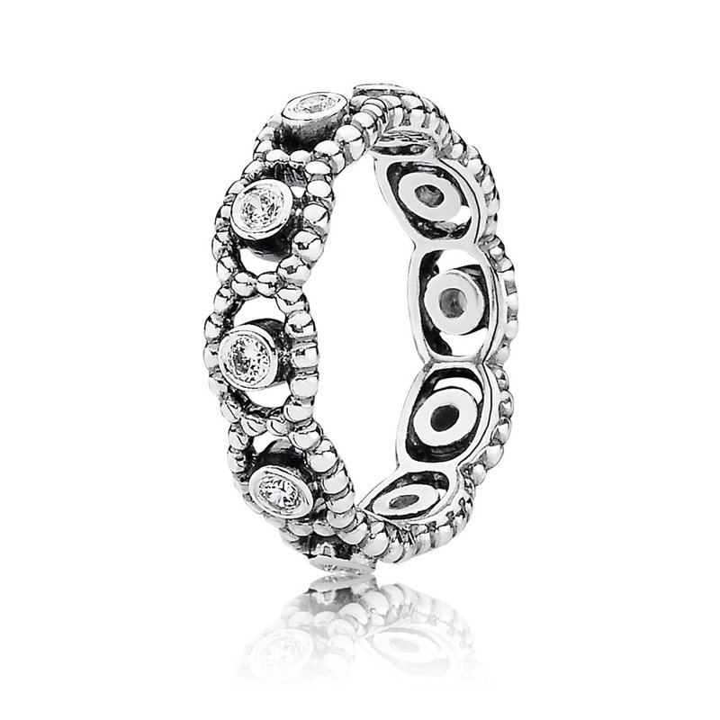 PANDORA Her Majesty Ring, Clear CZ