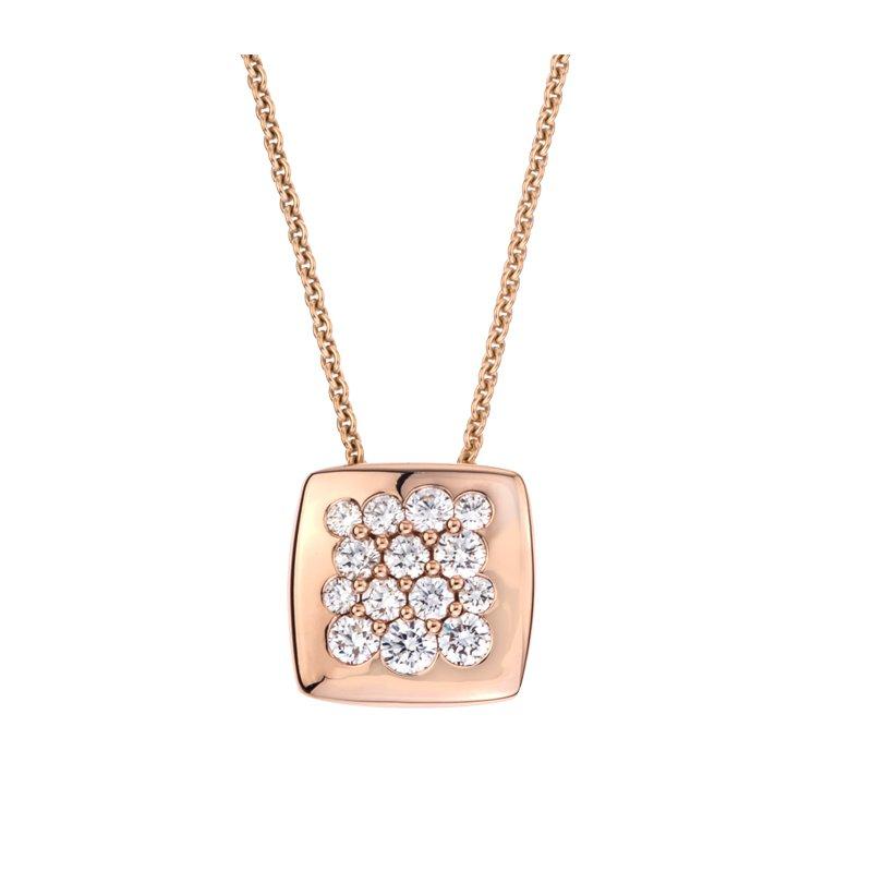 David Harvey Jewelers Mark Patterson Rose Gold Diamond 11mm Square