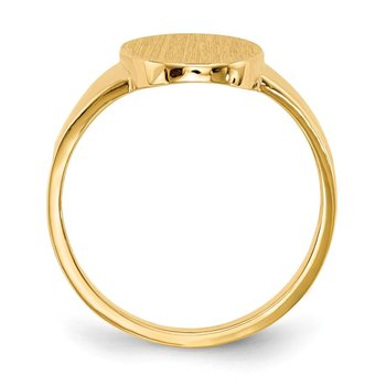 14k 14.5x9.0mm Open Back Signet Ring