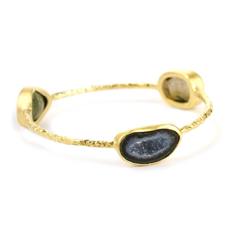 Nina Nguyen Pallas 3 Geode Gold Bangle